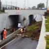 Underpass Perimeter Selatan BSH Longsor Akibat Hujan Deras