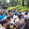 PMII Kota Tangerang Demo di Puspem Tolak Revisi UU MD3