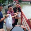 Pokja WHTR & PDAM TB Tabur Benih Ikan ke Sungai Cisadane