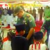 Buka TMMD, Pangdam Jaya Bagikan Sembako & Santuni Yatim