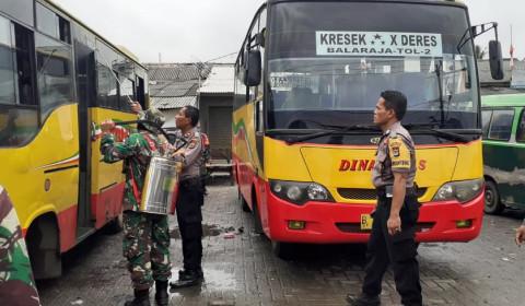 Polres-Kodim Kab Tangerang Serukan Warga Beraktifitas di Rumah