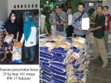 162 Warga RW 15 Sukasari Terima Bantuan Sekarung Beras