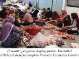Mushollah Al-Hidayah Terapkan Protokol Kesehatan Sembelih Qurban